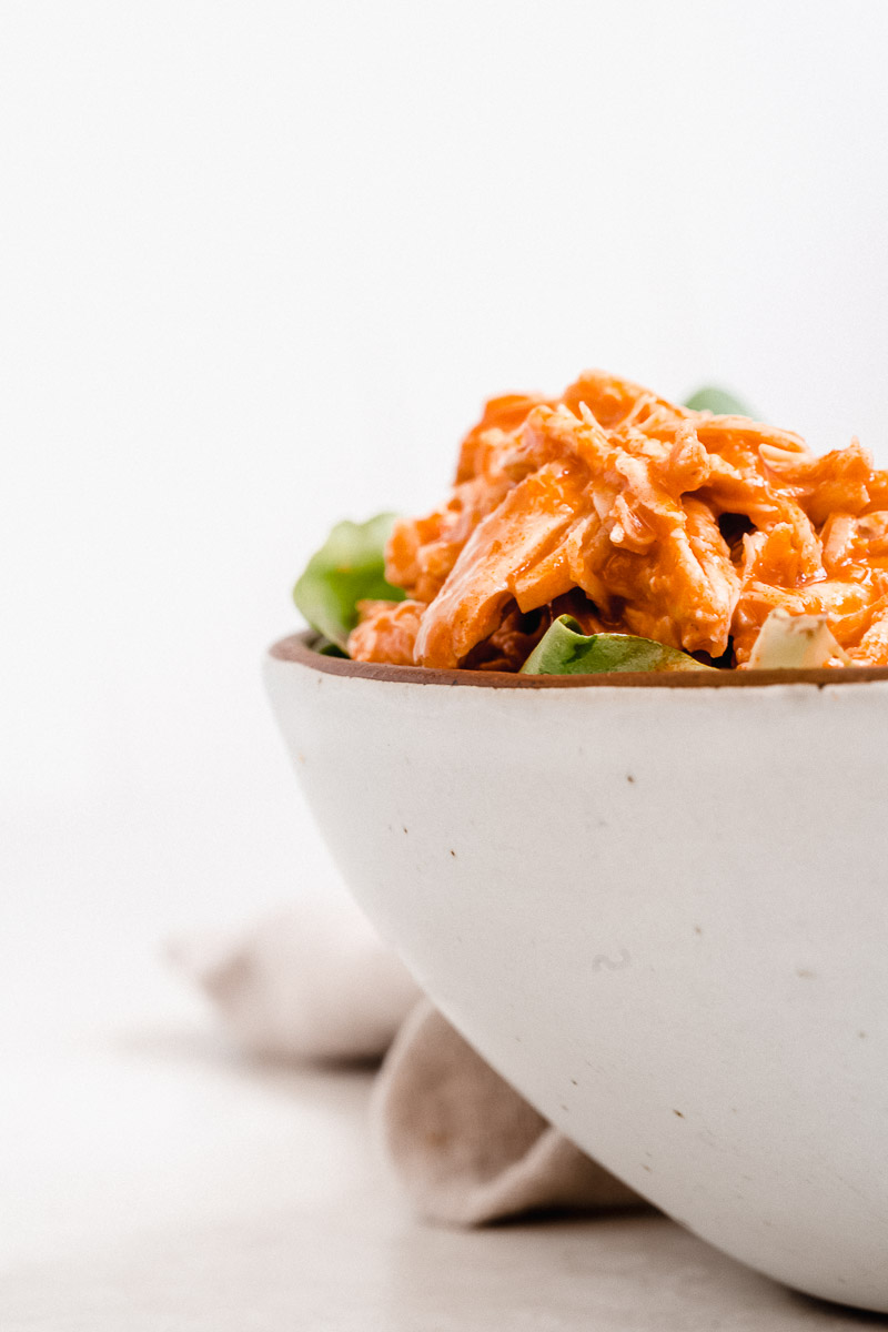Healthy Buffalo Chicken - The Fit Peach