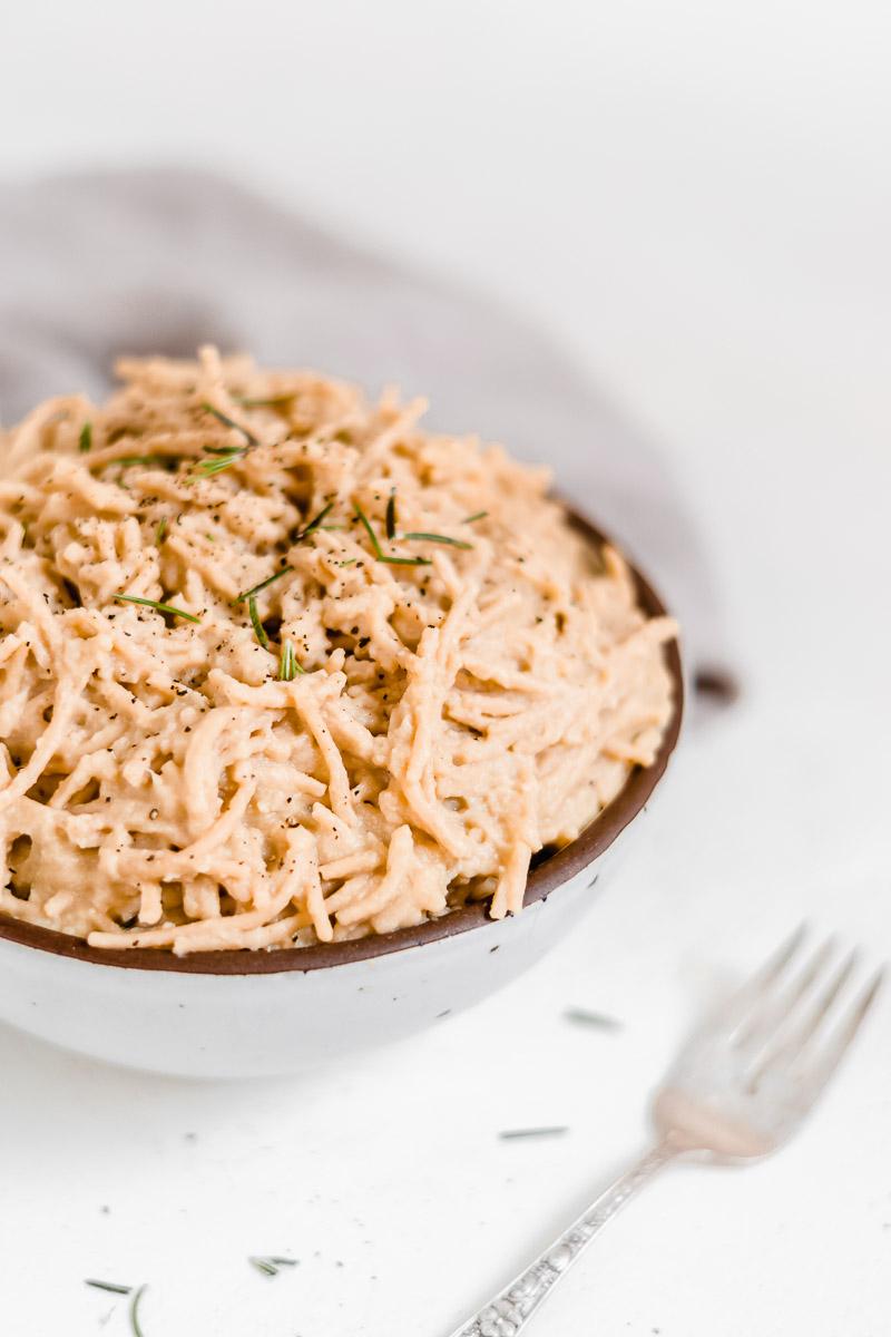 Vegan Cauliflower Alfredo Pasta Sauce - The Fit Peach
