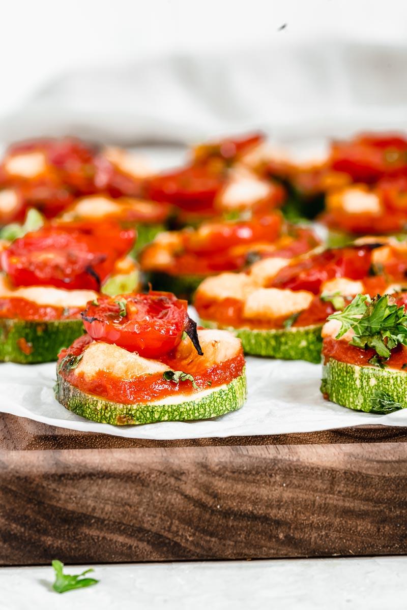 Zucchini Pizza Bites - paleo, vegan, dairy-free, gluten-free