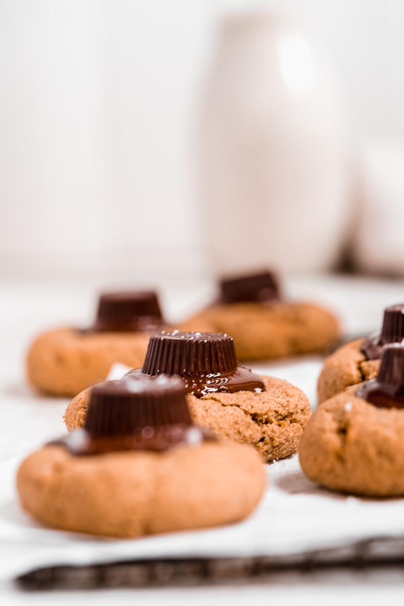 Tigernut Peanut Butter Blossom Cookies - paleo, gluten-free
