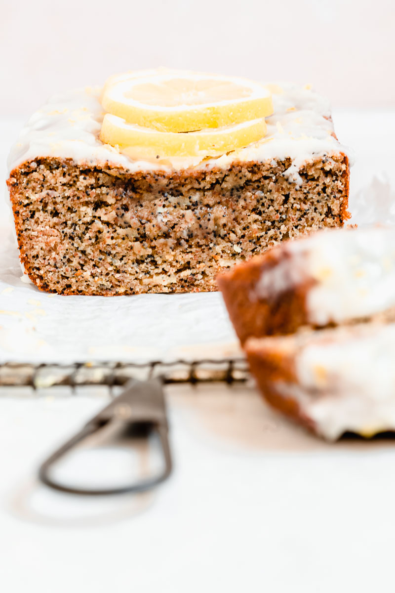 Paleo Lemon Poppy Seed Bread - The Fit Peach