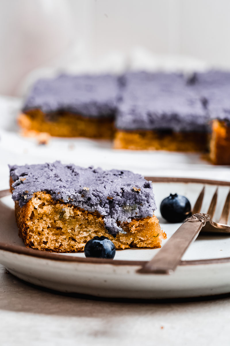 Blueberry Vanilla Paleo Sheet Cake - paleo, dairy-free, gluten-free