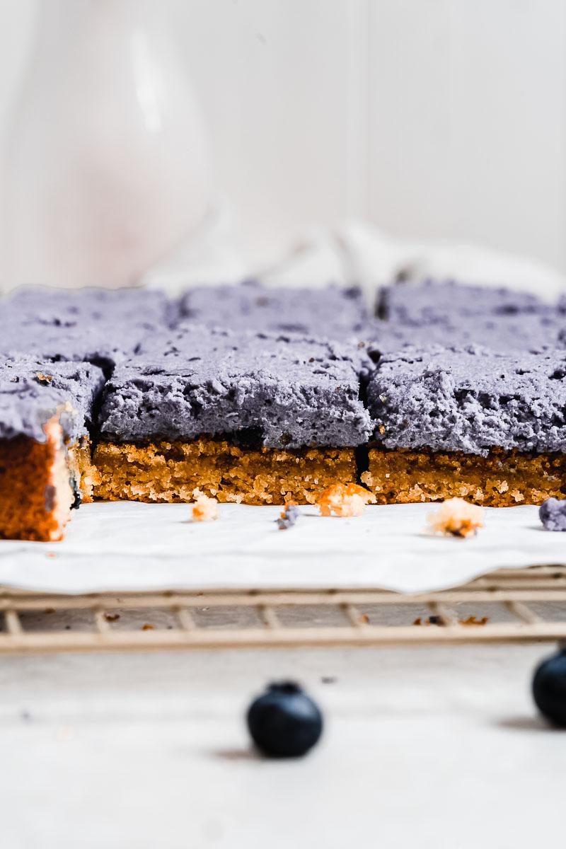 Blueberry Vanilla Cake - The Fit Peach