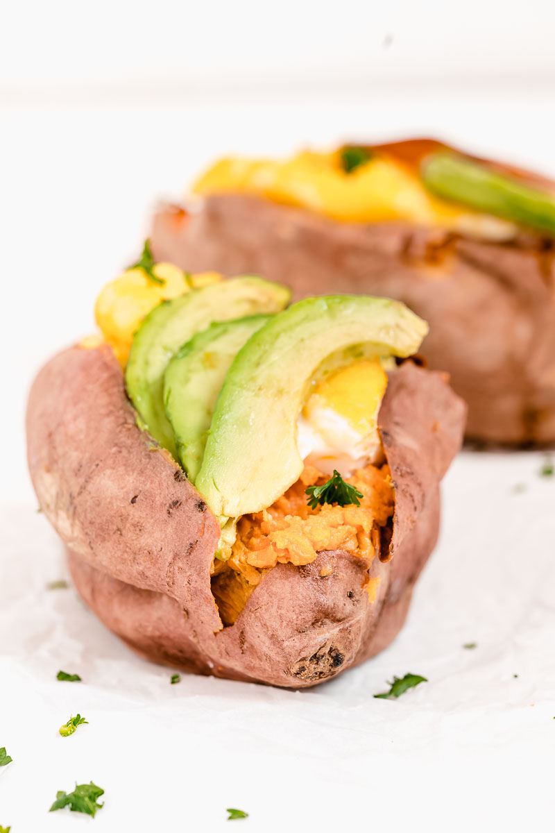 Healthy Stuffed Sweet Potato - The Fit Peach