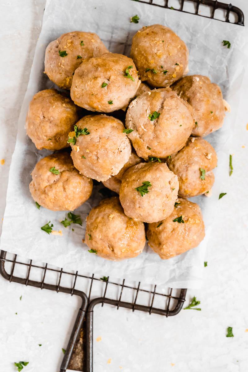 Paleo Baked Turkey Meatballs - The Fit Peach
