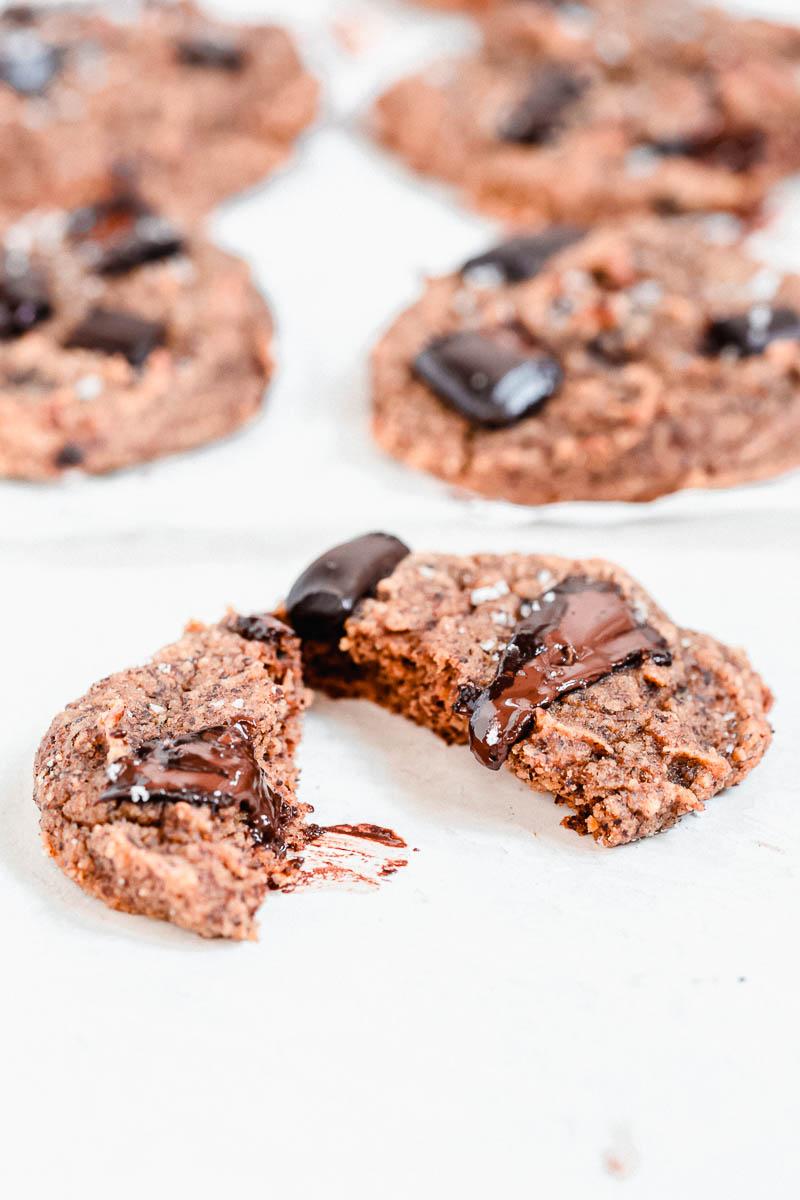 Sweet Potato Chocolate Chunk Cookies - The Fit Peach