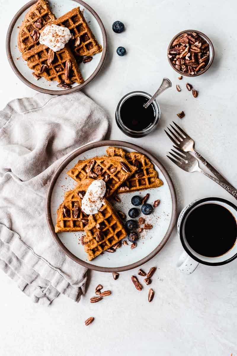 Healthy Sweet Potato Waffles - dairy-free options, gluten-free options