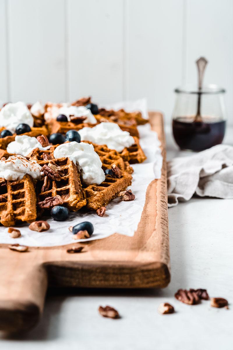 Gluten-free Sweet Potato Waffles - The Fit Peach