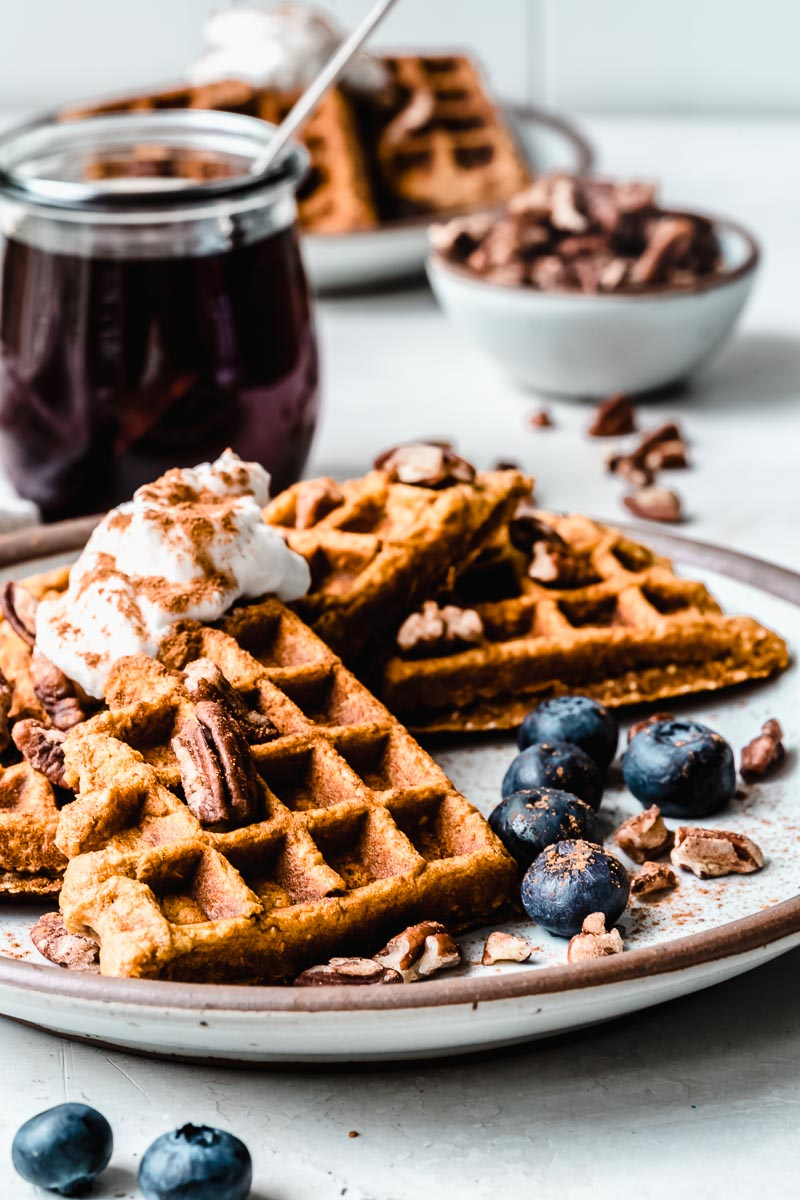 Easy Sweet Potato Waffles - The Fit Peach