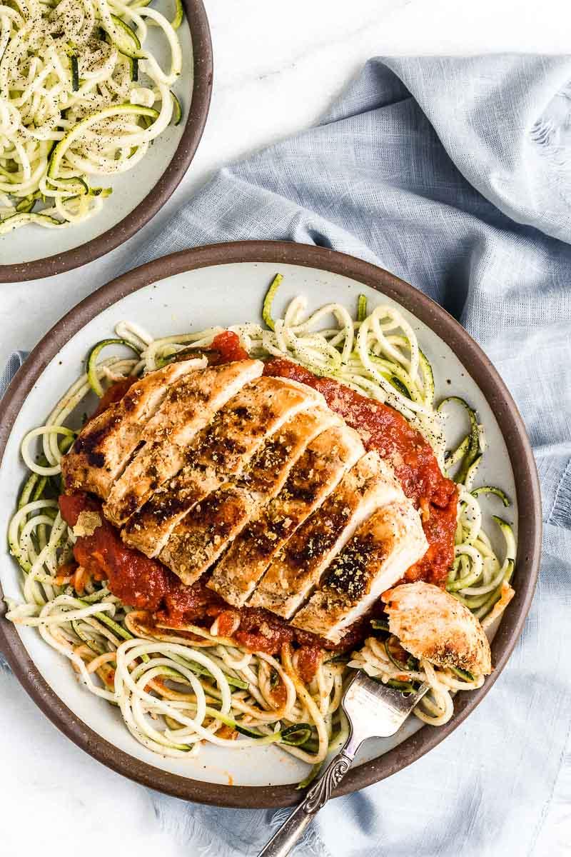 Easy Chicken Zoodle Marinara - paleo, dairy-free, gluten-free