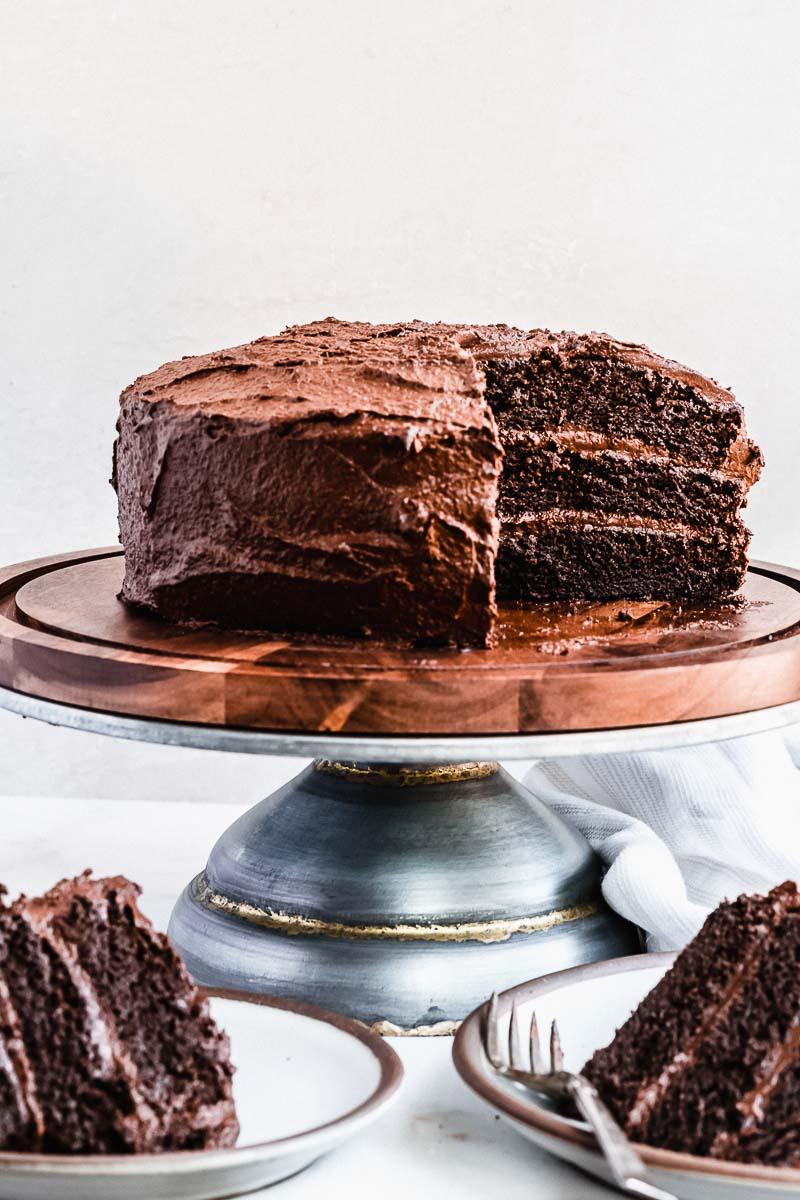 Life Changing Blackout Chocolate Paleo Cake - paleo, dairy-free, gluten-free