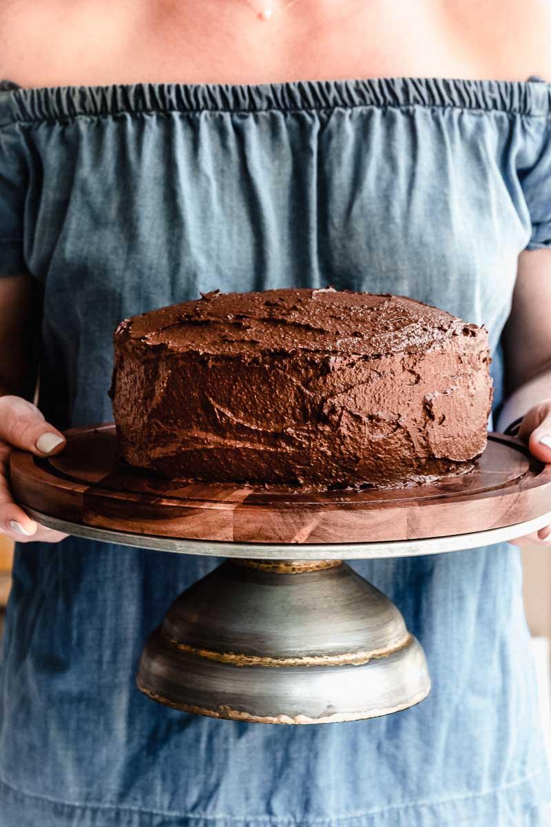 Paleo Chocolate Birthday Cake - The Fit Peach