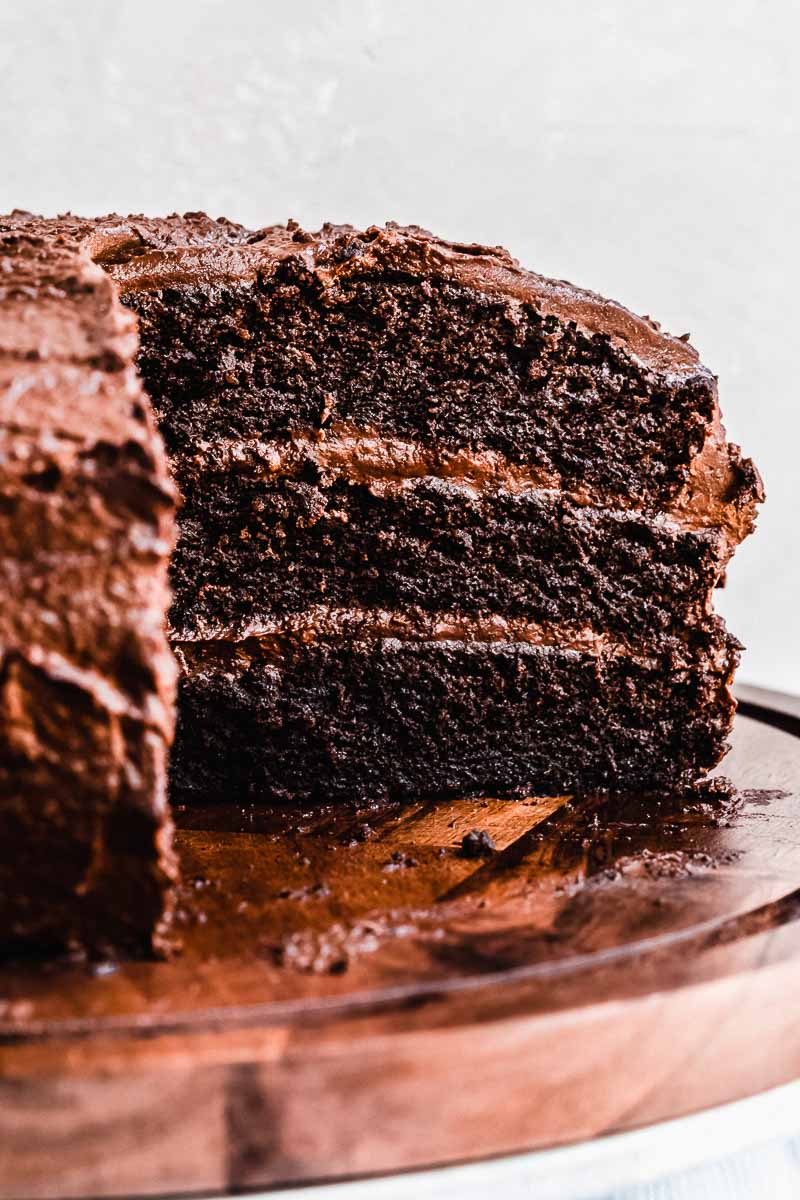 Life Changing Blackout Chocolate Cake - The Fit Peach