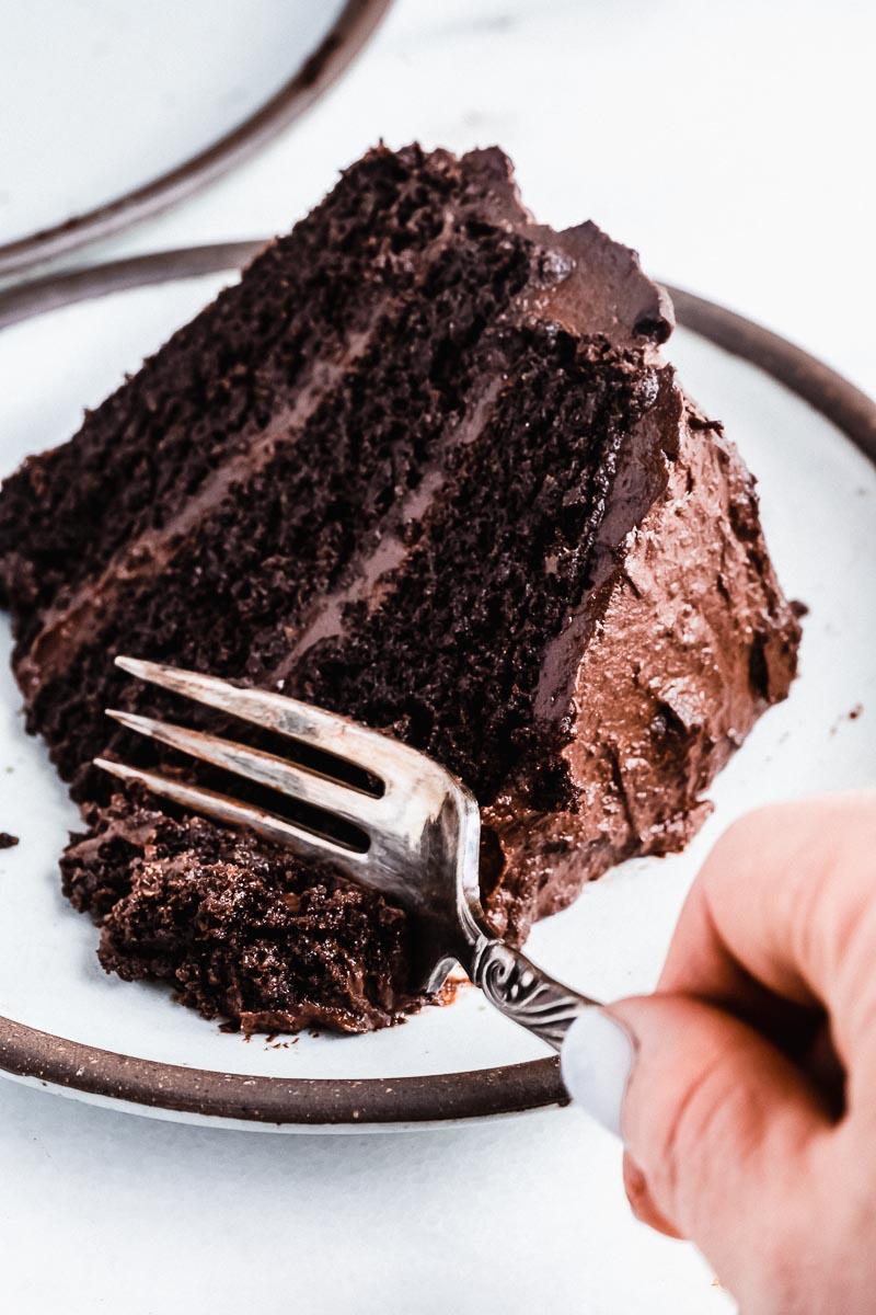 Gluten-free Chocolate Cake - The Fit Peach