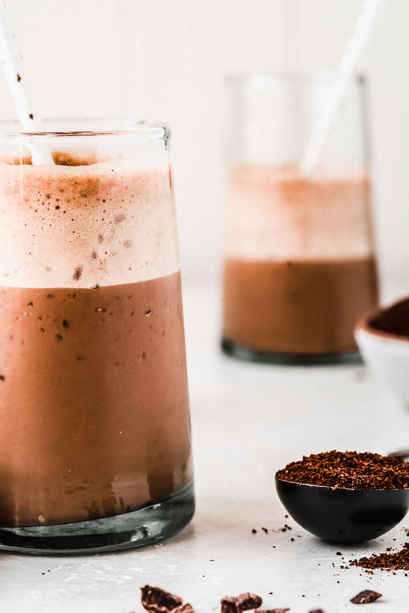 Cold Brew Chocolate Protein Smoothie - The Fit Peach