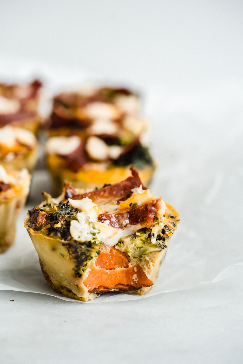 Healthy Breakfast Egg Muffins - The Fit Peach