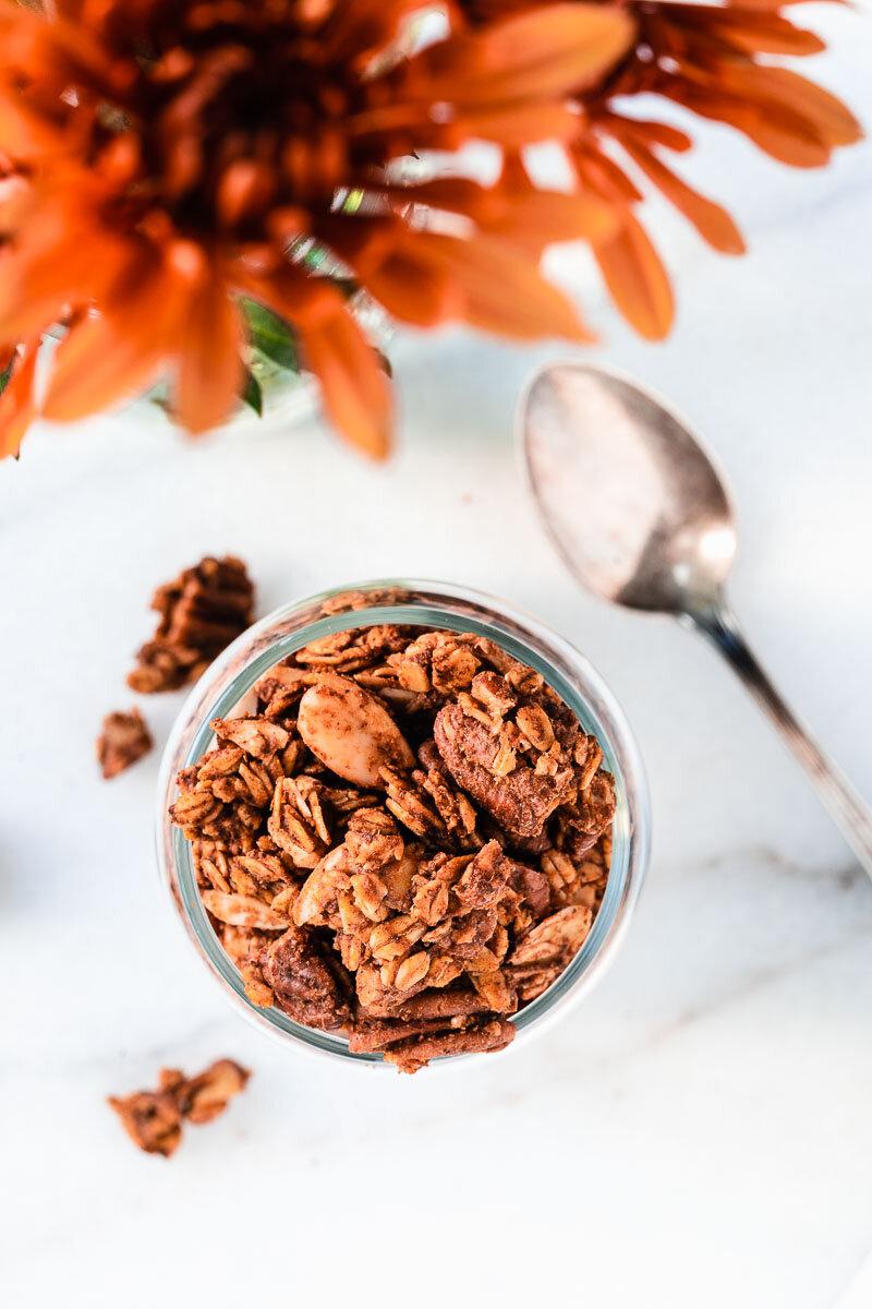 Fall Spiced Pumpkin Granola - plant-based, dairy-free, gluten-free (options)
