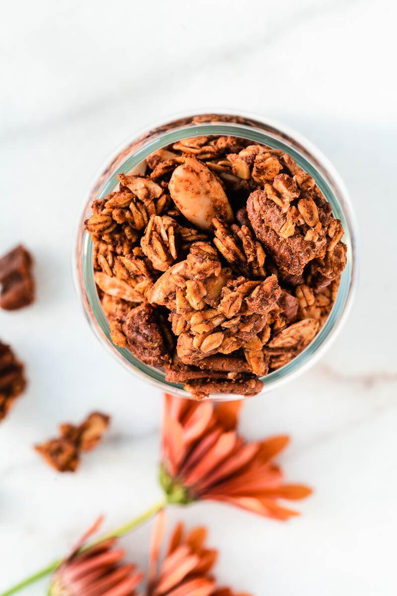 Healthy Pumpkin Granola - The Fit Peach