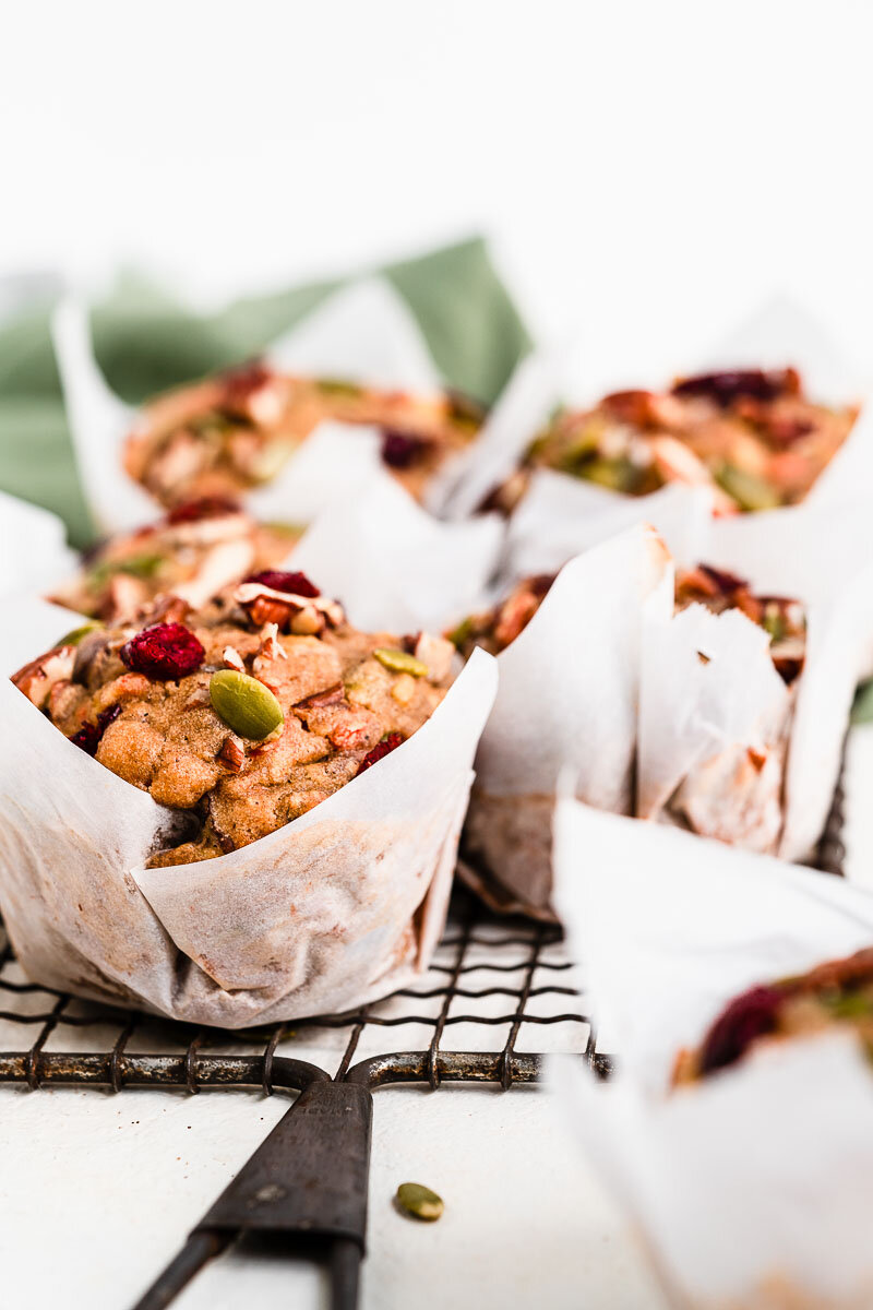 Healthy Morning Glory Muffins - The Fit Peach