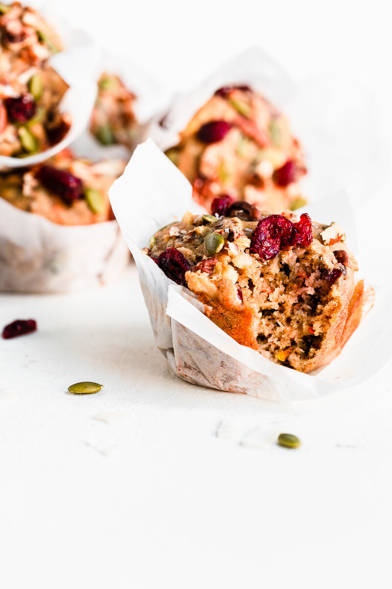 Gluten-free Morning Glory Muffins - The Fit Peach