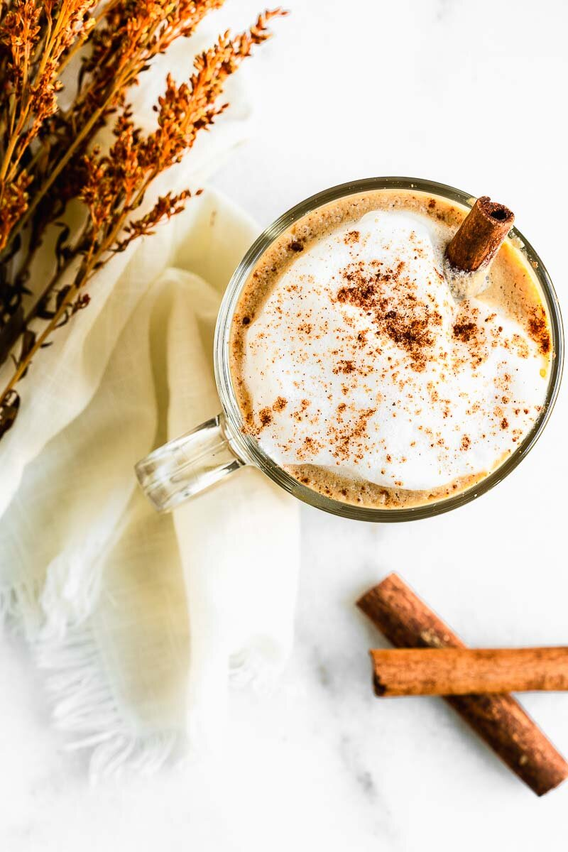 Dairy-Free Pumpkin Spice Latte - The Fit Peach