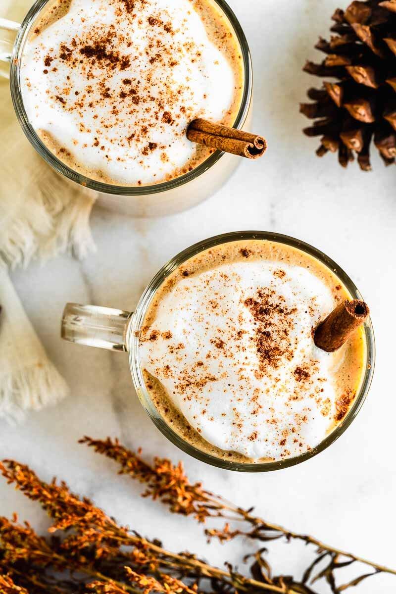 Almond Milk Pumpkin Spice Latte - The Fit Peach