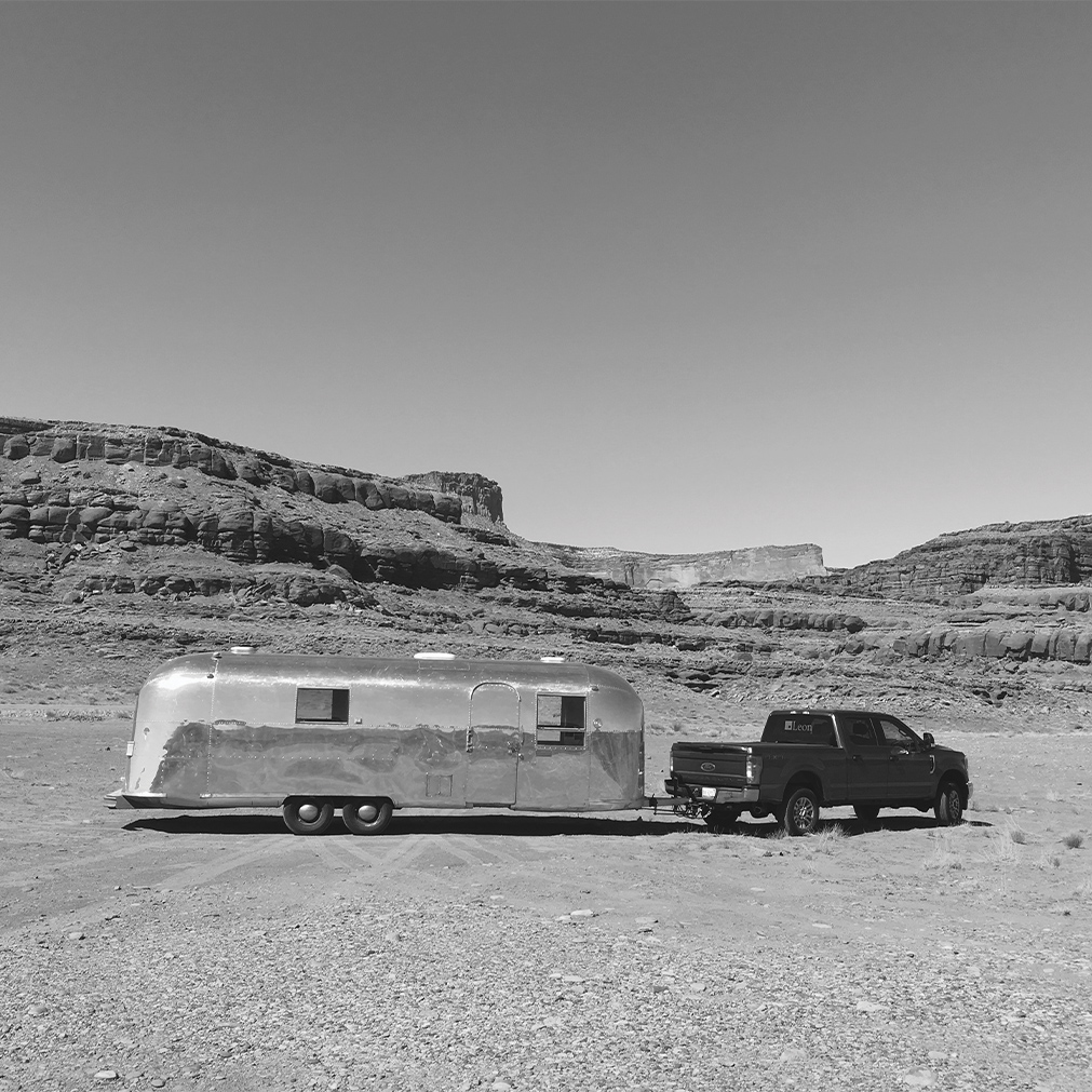1967 Airstream: Leon's restored Airstream on its inaugural cross country drive, 2017