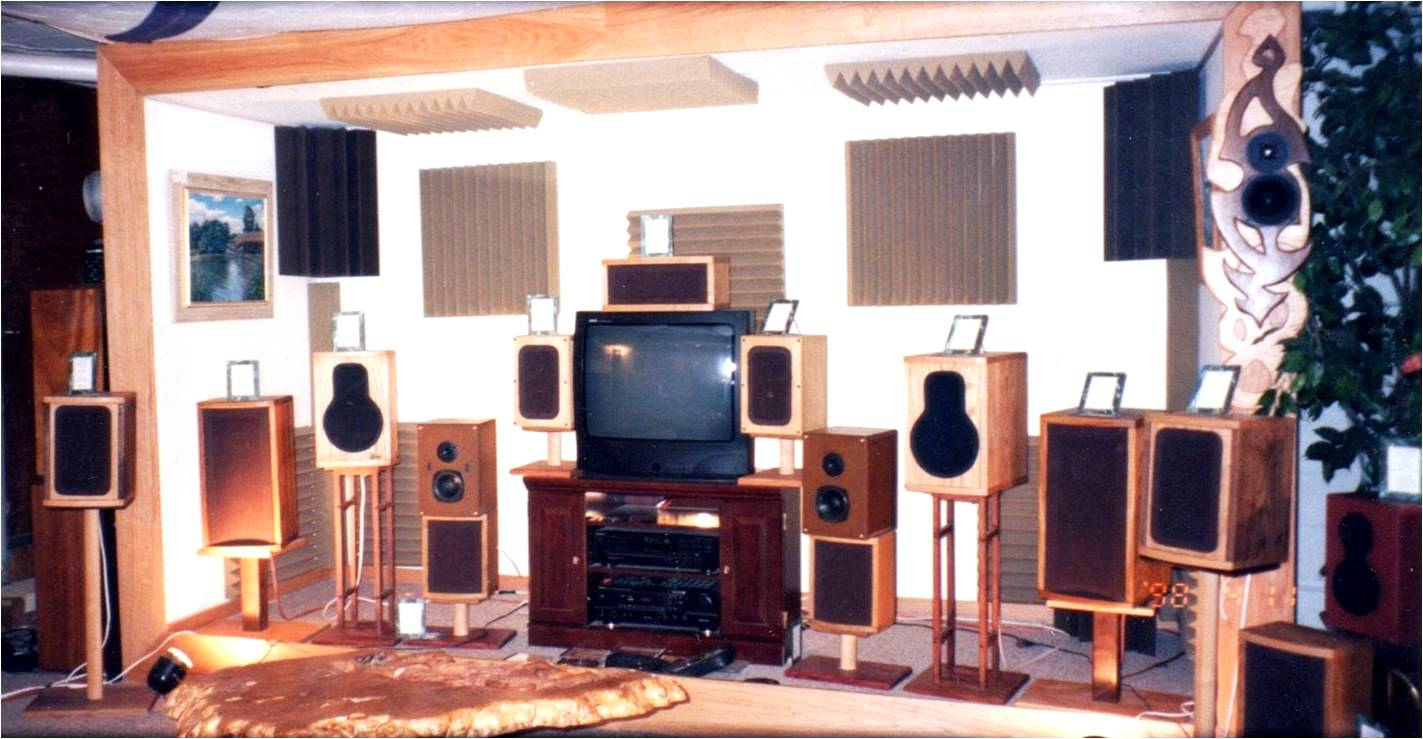 The first Leon Speakers listening room circa 1995