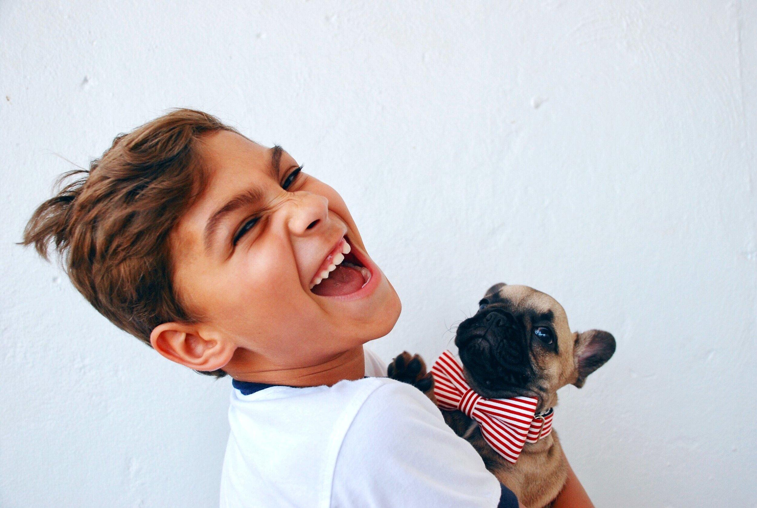 Puppy and Boy, #pug #puglove