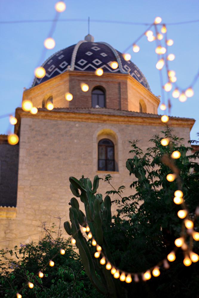 Views to the church restaurant in Altea Oustau