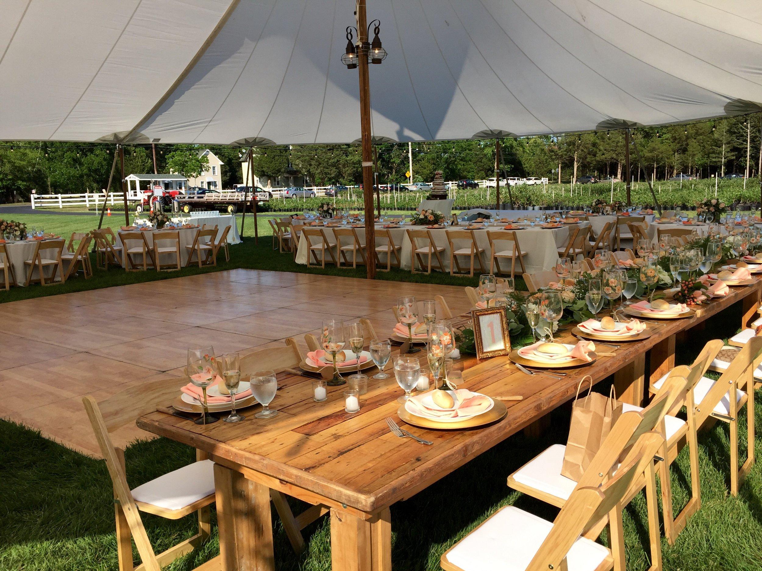 Sail Cloth Wedding Tent at Farm Weddings NJ.jpg