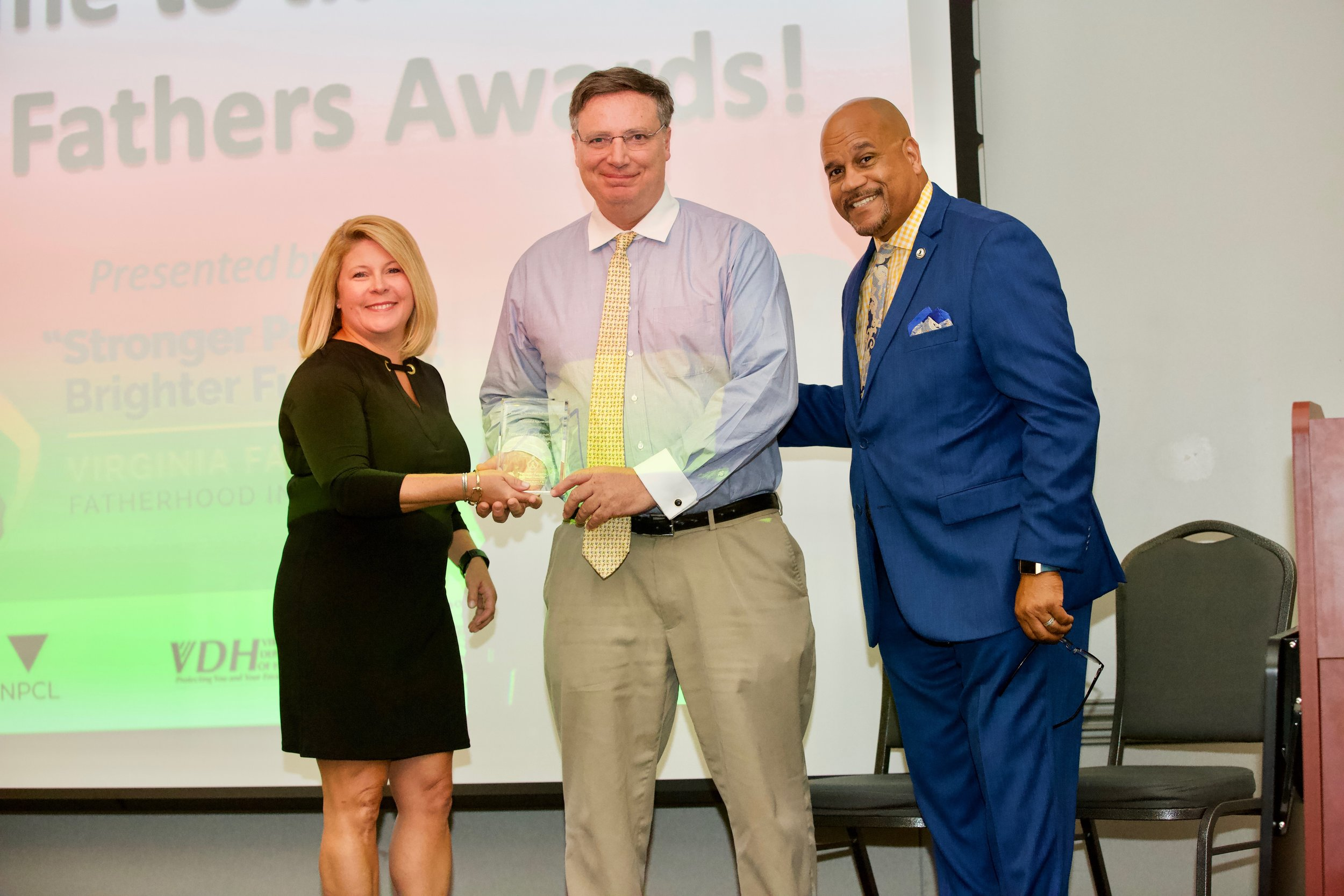 Stronger Parents, Brighter Futures Program  within the Virginia Family and Fatherhood Initiative, presents Favorite Father Award to a noteworthy Virginia Dad.
