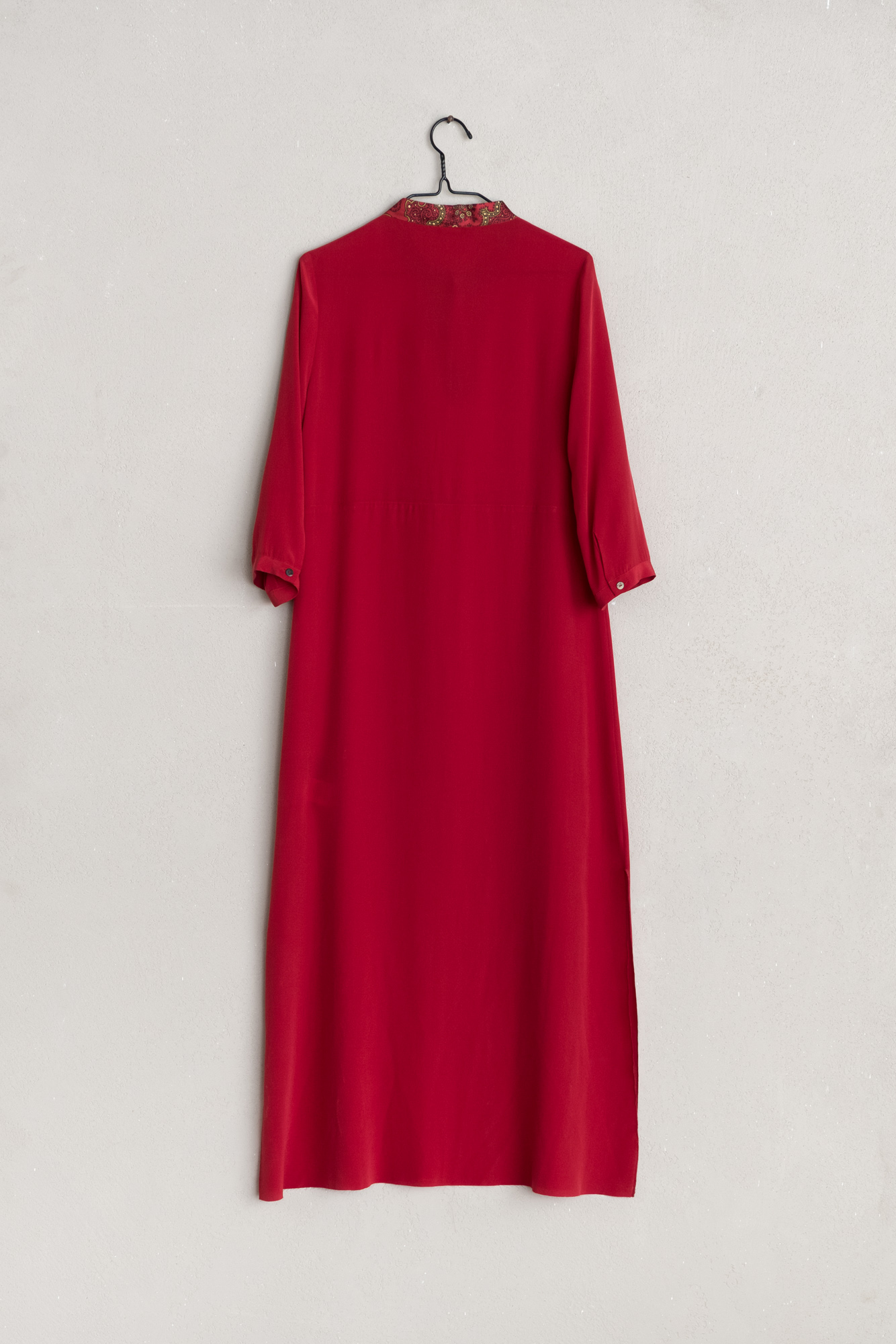 save off 0e99c 239c0 Ibrigu - Red long silk dress — Vico dei Bolognesi
