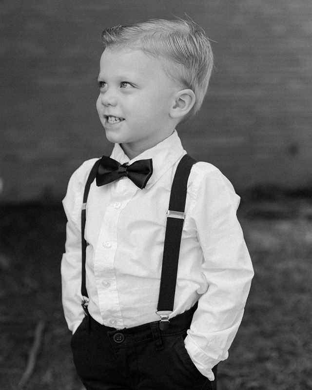 When the ring bearer steals the show 😎