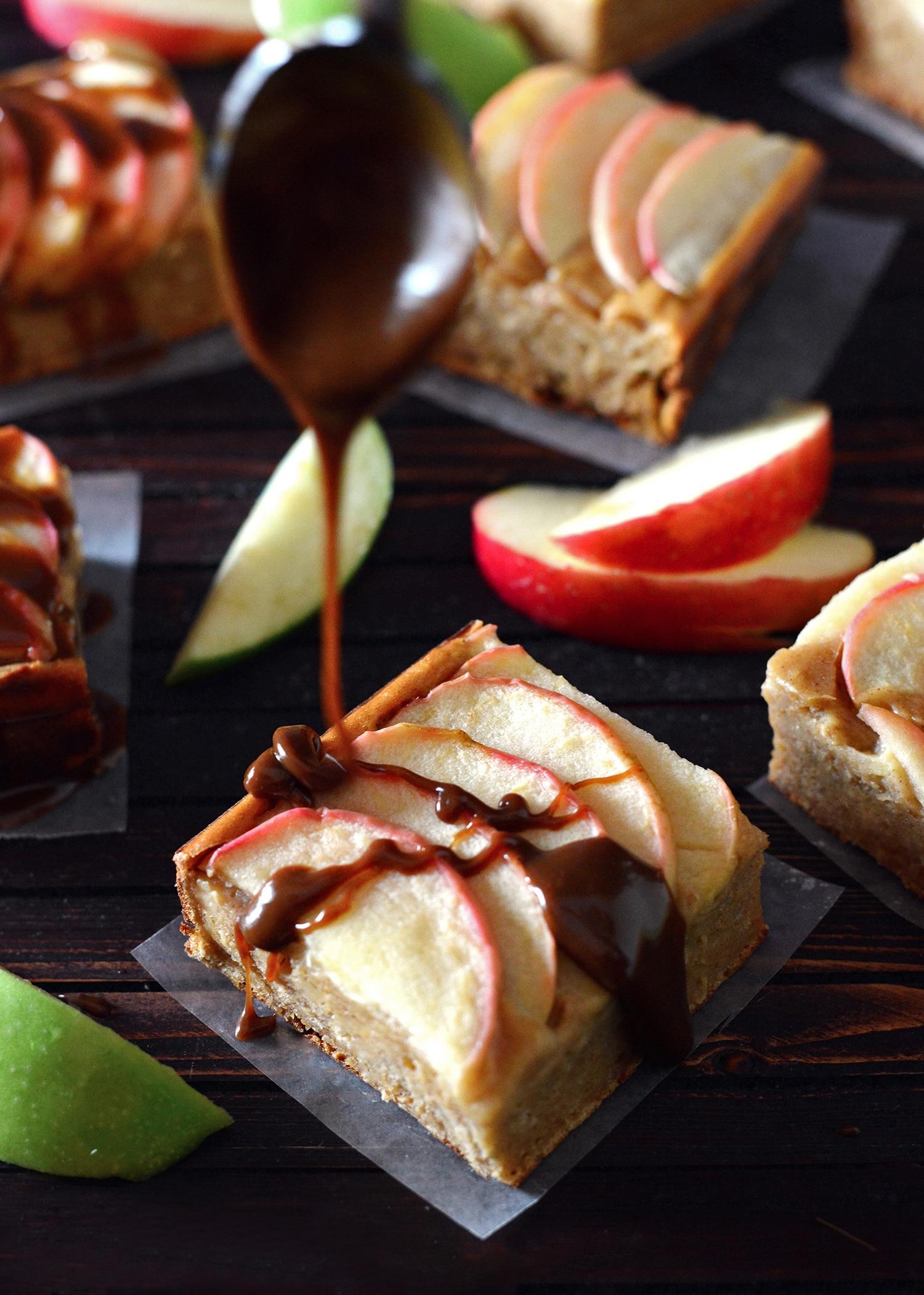 Salted Caramel Apple Snickerdoodle Cake