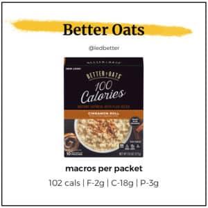 Better Oats Cinnamon Roll Packets