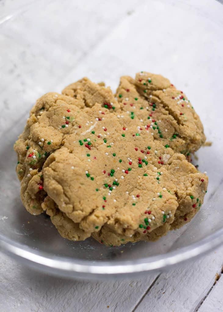 No Bake Christmas Sugar Cookie Bars