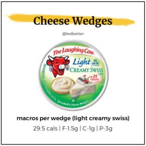 The Laughing Cow Cheese Wedges - Light Creamy Swiss