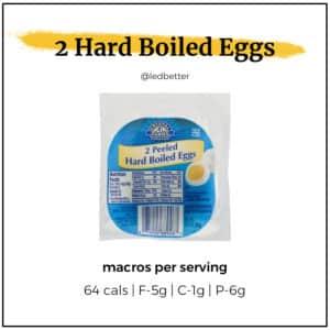 2 Hard Boiled Eggs