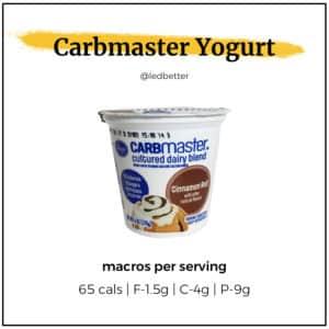 Carbmaster Yogurt -Cinnamon Roll