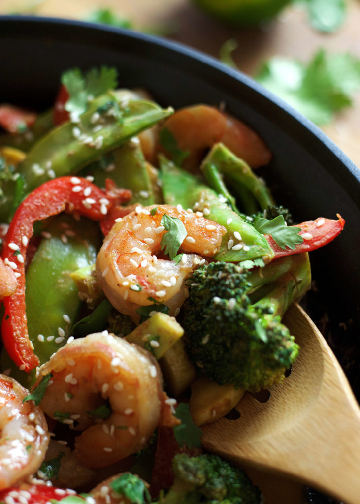 Shrimp Stir-Fry with Peanut Sauce