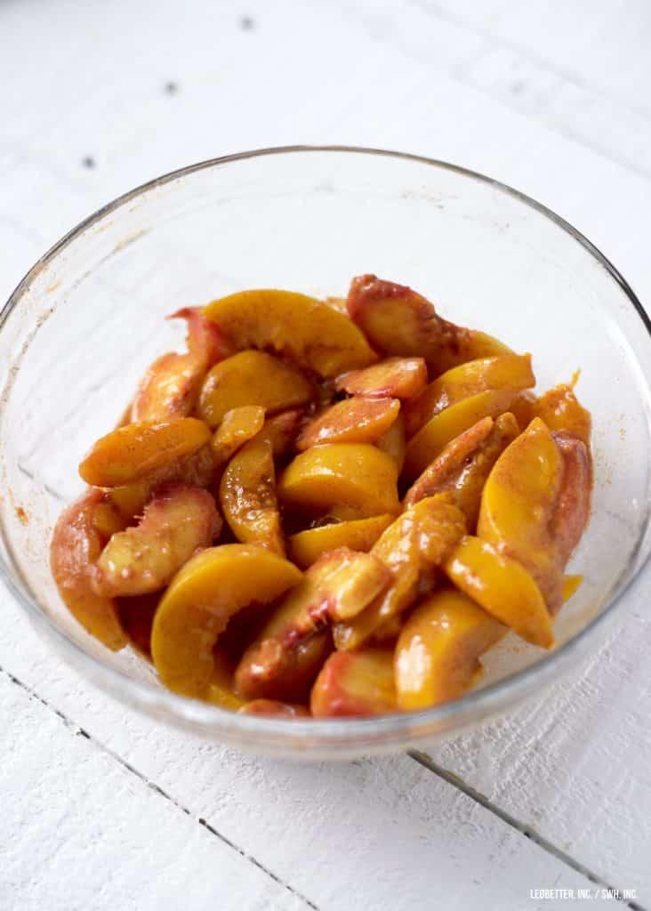 Healthy Peach Cobbler