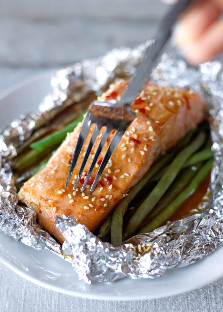 Sweet Chili Baked Salmon