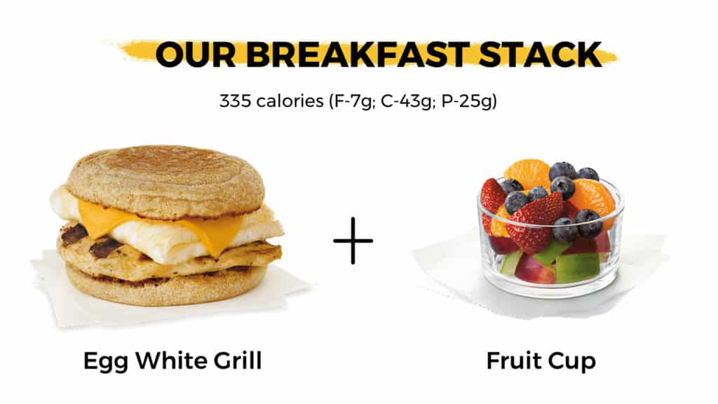 Our favorite breakfast stack from Chick-fil-A that is macro-friendly!