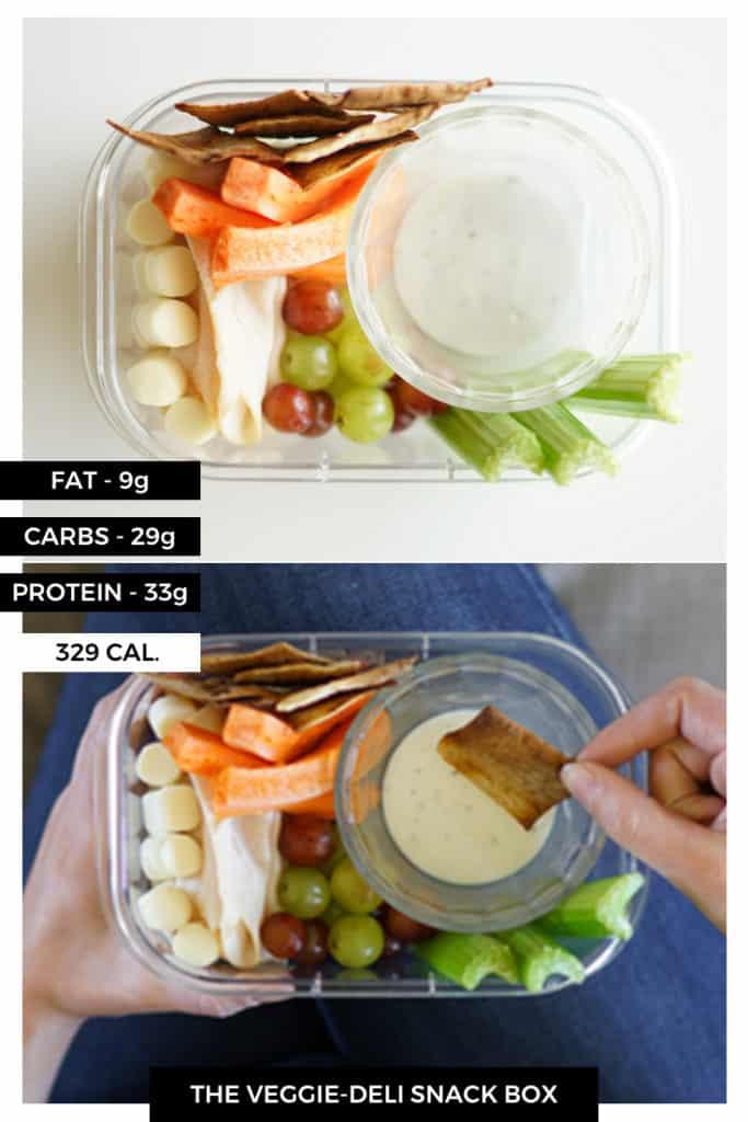 The Veggie-Deli Snack Box