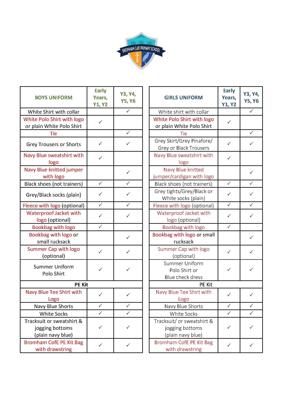 Bromham CofE - Uniform List.jpg