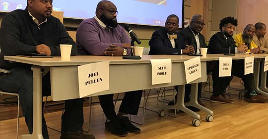 Black male professionals inspire a path forward at New Haven panel