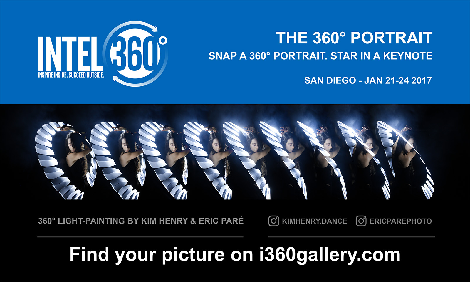 360 degree bullet-time light-painting in San Diego with Intel