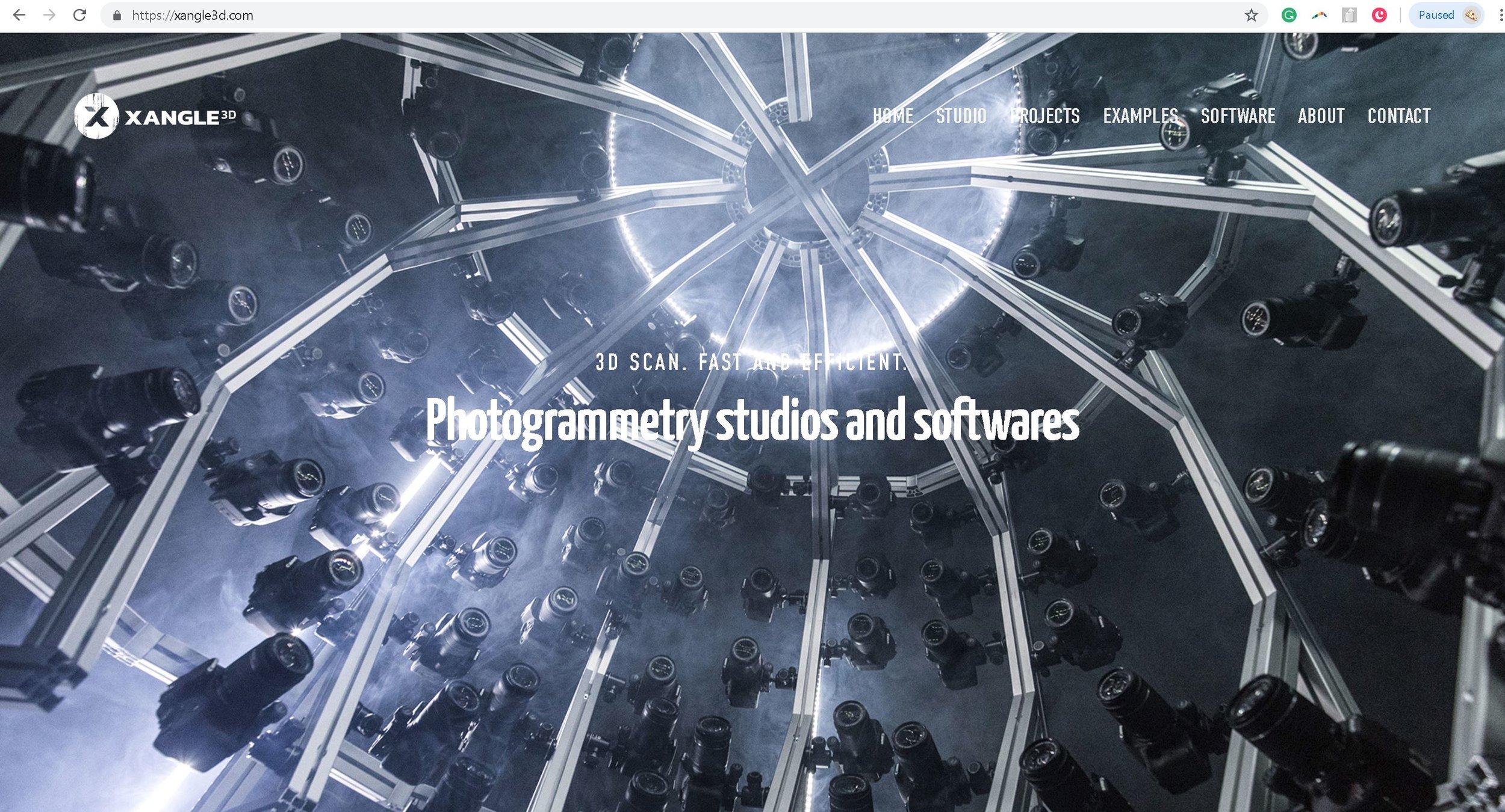 New website: Photogrammetry / 3d scan software + studio in