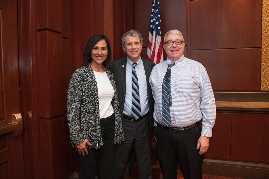 Beth and Alan Lake with Senator Sherrod Brown April 2019